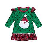 4d21f826b POLP Niño Navidad Ropa niñas Bebe Navidad Regalo Estampado de Navidad Manga  Larga Santa Claus Camiseta
