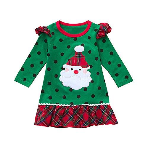 c94021701 POLP Niño Navidad Ropa niñas Bebe Navidad Regalo Estampado de Navidad Manga.