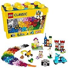 Diese große Box enthält klassische LEGO Steine in 33 unterschiedlichen Farben, mit denen du es richtig krachen lassen kannst. Unzählige ganz verschiedene Türen und Fenster sowie weitere spezielle Elemente werden dich dazu inspirieren, deiner Fantasie...