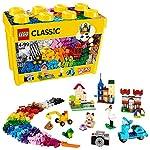 LEGO Classic Scatola Mattoncini Creativi Grande, Set di Costruzioni Divertenti, Contenitore Giocattoli Colorati, 10698 LEGO