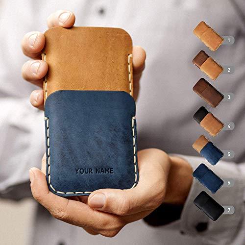 Hülle für iPhone Leder Etui Tasche Cover Case personalisiert durch Prägung mit ihrem Namen, ideal für XS Max XR X 8 7 plus 6 6s + 5 5s 5c SE Handytasche Tolle Iphone Cover
