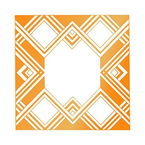Ultimate Crafts Geometrische Rahmen Hotfoil Stempel, grau (Couture Collection Hot)