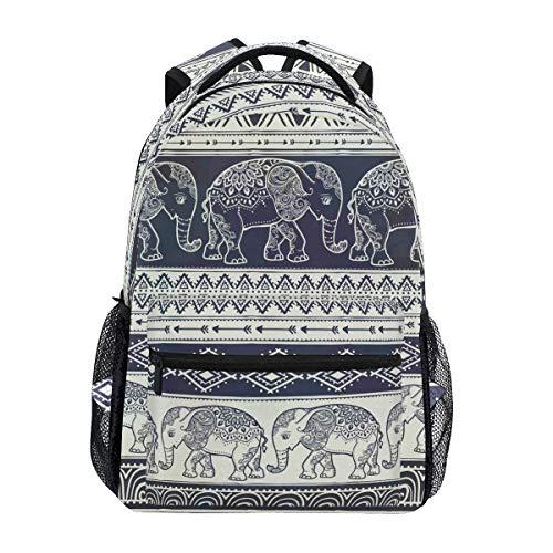 Mochila Escolar Estilo Elefante de Mandala para Mochila de Viaje para niños, niñas y niños