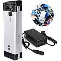 X-go Bateria Bicicleta electrica 36v Batería 36 V 10 Ah Batería de Ion de Litio para E-Bike Pedelec y Cargador