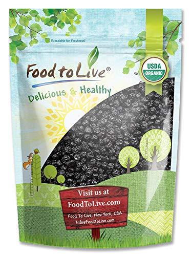 Food to Live Mirtilli essiccati Bio (Biologico, Organic, non OGM, kosher, insoddisfatto, alla rinfusa) - 8 once