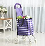 FFJTS Carrito de compras - Remolque portátil plegable - Trolley