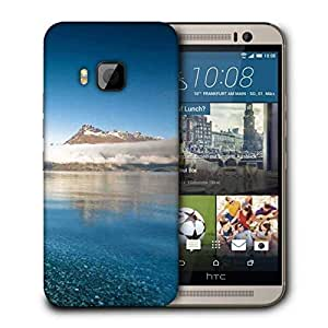 Snoogg Crystal Beach Printed Protective Phone Back Case Cover For HTC One M9