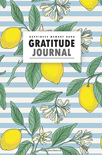 Happiness Memory Book Gratitude Journal: Vintage Lemon 102 Gratitude Journal Pages - Pocket Size