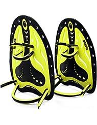 ZIONOR HP1 Palettes de main silicone réglable Sangle souple d'entraînement de natation Main palmés Pagaies plongée équipement pour adultes enfants