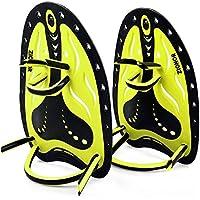 ZIONOR HP1 Palas de natación aletas correa ajustable de silicona suave Paletas de mano entrenamiento equipo de buceo para adultos y niños
