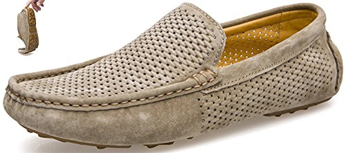 MODA-ITALY-Mens-Classic-Slip-On-Penny-Loafers-Casual-Suede-Leather-Moccasins-Shoes