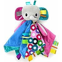 Bright Starts - Cuddles n Tags – Taggie Blankie – Elephant