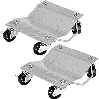 GOTOTOP Set de 2 Patines de Neumáticos Rodamientos de Bolas Camilla Plataforma para Reparación de Coche hasta 1500 LB / 680 kg