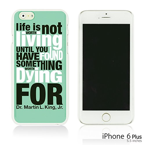 OBiDi - Typography Pattern Hard Back Case / Housse pour Apple iPhone 6 Plus / 6S Plus (5.5)Smartphone - Life Is Life Is