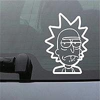 etiqueta de la pared decoración Rick y Morty Rick para la ventanilla del coche Ation Etiqueta engomada linda del parachoques del ordenador portátil para el ordenador portátil del coche
