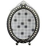 Miroir de maquillage Simple Recto Grand Taille Princesse Princesse De Bureau HD Beauté En Métal Miroir (taille : 25.5cm)