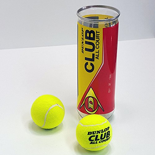 Dunlop Tennisball SET 3 Tennisbälle und Dose, Spaß Sport Tennis Spiel Wurf Ball
