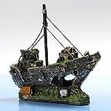 11 CM * 5 CM * 13 CM Aquarium Dekoration Schiff Wrack Deko Unterwasser