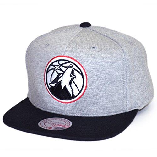 Mitchell & Ness Snapback Grey Heather Minnesota Timberwolves grey (Minnesota Timberwolves Hat)