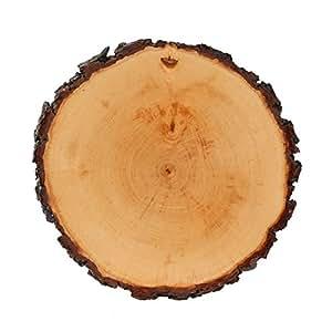 Rindenbrett lackiert rund - Rindenscheibe Baumscheibe Wurstbrett Käsebrett, Brettgröße:ca. 20-22 cm Durchmesser