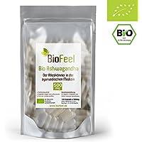 BioFeel - BIO Ashwagandha Kapseln - 120 Stk, 500mg - Indische Ayurveda Lehre - Indischer Ginseng
