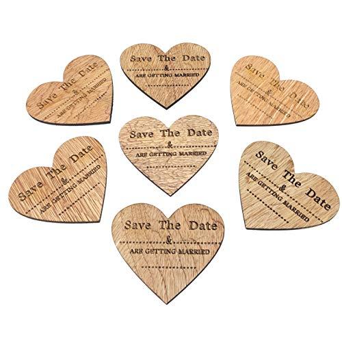 Kühlschrankmagnete aus Holz in Herzform mit englischer Aufschrift