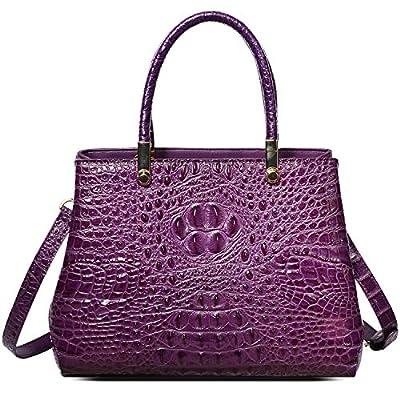 PIFUREN Top Handle Satchel Handbags Designer Leather Tote Bags