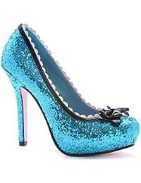 Leg Avenue 5064 - Sasha, Samt Pump Schuhe, Größe 7, schwarz