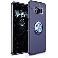 Shinyzone Samsung Galaxy S8 Hülle,Blau mit 360 Grad drehbarer Ring Ständer,Ultra Dünn Weich TPU Stoßfest Schutzhülle... preisvergleich bei billige-tabletten.eu