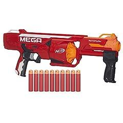 Idea Regalo - Hasbro Nerf Nerf B1269EU4 - Arma Giocattolo Mega RotoFury Blaster, Arancione/Rosso