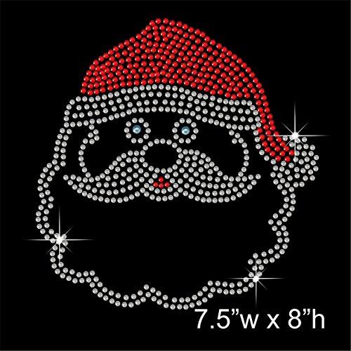 Weihnachten Santa Hotfix Strass mit Eisen auf übertragen Motiv Aufnäher (Weihnachten Eisen Auf übertragung)