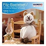 Glorex GmbH 6 2902 603 - Filz-Creativ-Set Katze 14 x 7cm