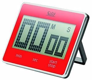 Silit 2141288626 Digitaler Kurzzeitmesser Attimo, rot
