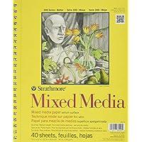 "Pro-Art ""Strathmore Mixed Media Vellum-Blocco a spirale, 23 cm x 30 cm, 40 fogli"