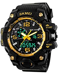 e69656f51f2c Funnyrunstore SKMEI 1155 moda hombre deportes reloj Super Cool Luminous  hombres puntero Digital reloj LED 5ATM