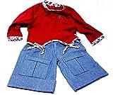 Schildkröt Puppenkleidung, 2-teiliges Jeansset für ca. 72 - 80 cm Künstlerpuppen