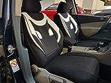 Sitzbezüge k-maniac | Universal schwarz-Weiss | Autositzbezüge Set Komplett | Autozubehör Innenraum | Auto Zubehör für Frauen und Männer | NO2026421 | Kfz Tuning | Sitzbezug | Sitzschoner