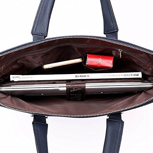 Einzelne Schulter Ranzen, Tragbare Aktenkoffer, Computer Tasche, Männer - Leder - Freizeit - Tasche schwarz