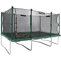 Ultrasport Premium Gartentrampolin Jumper, großes Trampolin 305 x 457 cm, Komplettset inkl. Sicherheitsnetz, Sprungmatte, gepolsterten Netzpfosten und Randabdeckung