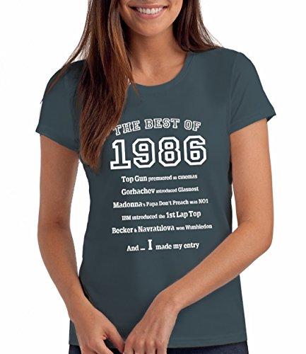 Da Londra Damen - The Best of 1986 - T-Shirt als Geschenk zum 33. Geburtstag: De, M