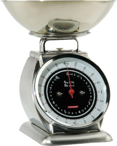 Product Description FeaturesItalian Job Stainless Steel escalerasBeautiful, stylish Kitchen Scales for all your measuring needsGenerous Stainless Steel BowlStainless Steel BodyLarge easy to read dial FaceWeighs up to a huge 8lb/4kgs. Box contains1x...