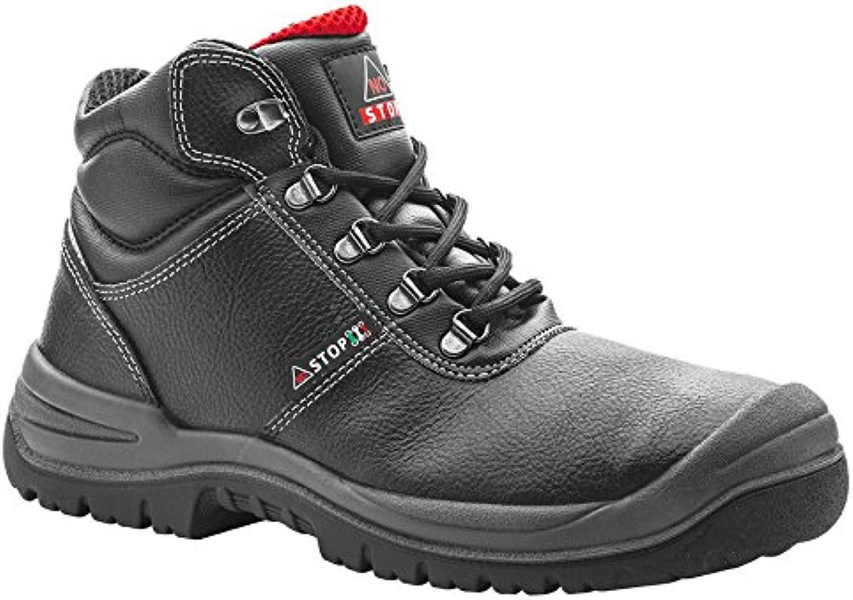 No Stop 2332101la 37 Kansas S3 Mid Zapatos de Trabajo, tamaño 37, Black