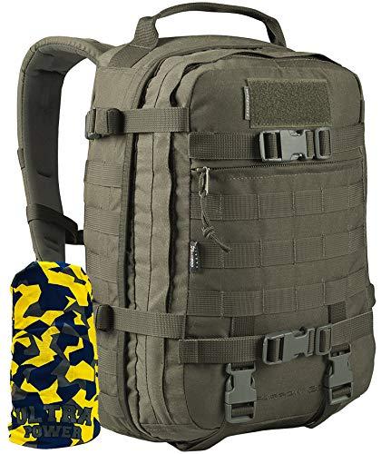 WiSPORT® SPARROW Rucksack 30 Liter | Cordura | Militär | MOLLE | Kampfrucksack | Wandern | Sport | Outdoor, Tarnung:RAL-7013