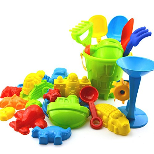 Haodou Sandkasten-Spielzeug Set 25-Teilig Baby-Strand-Spielzeug-Set Spielzeug Für Strand, Wasser UVM. (EIN Satz
