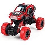 Elegant Design With 4 Wheel Independent Suspension And Four Wheel Drive 4*4 Pull Back Big Foot Die Cast Toy Car (Green) (RED)