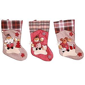 Kesote 3 Calcetines de Navidad
