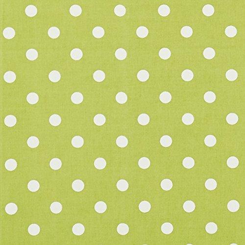 vinylla Polka Dot Lime Grün Vinyl Beschichtete Baumwolle Einfach abwischbares Wachstuch Tischdecke, grün, 140 x 180 cm (Grüne Tischdecke Vinyl)