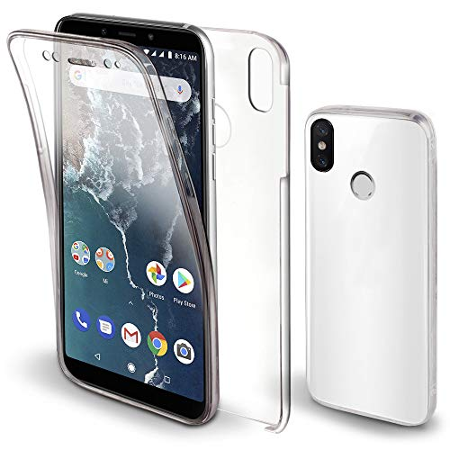Moozy Funda 360 Grados Xiaomi Mi A2 Transparente -
