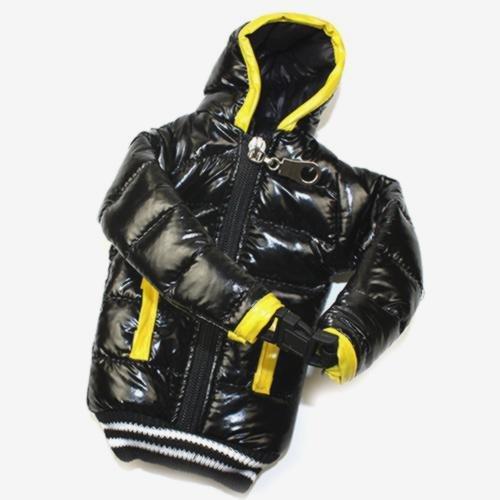 Schutzhülle Tasche Daunenjacke schwarz und gelb für Nokia Lumia 925
