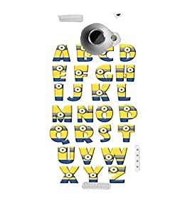 printtech Aplphabets Minions Back Case Cover for HTC One X::HTC One XT::HTC 1X